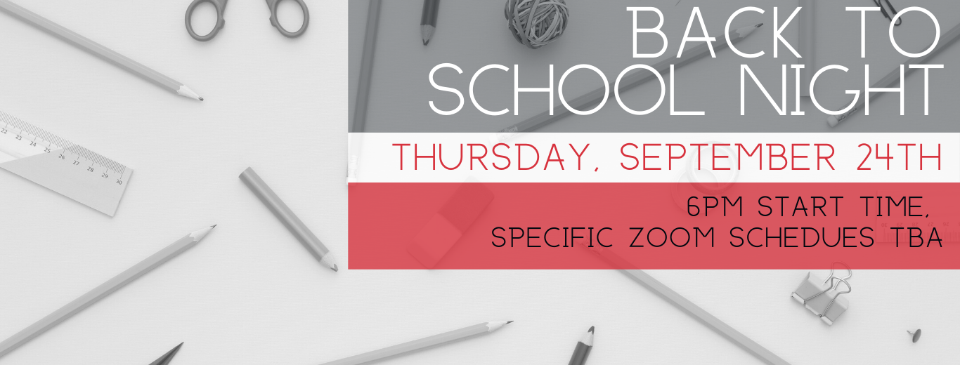 Back to school night September 24 at 6pm
