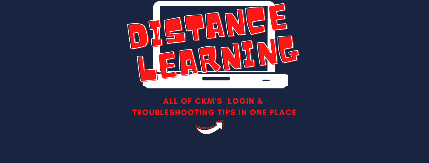 Distance Learning login and troubleshooting